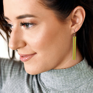 Chartreuse Pixie Stix Earrings by ColorUpLife