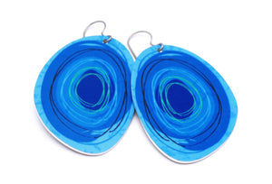 Dark Blue Maisie Earrings by ColorUpLife
