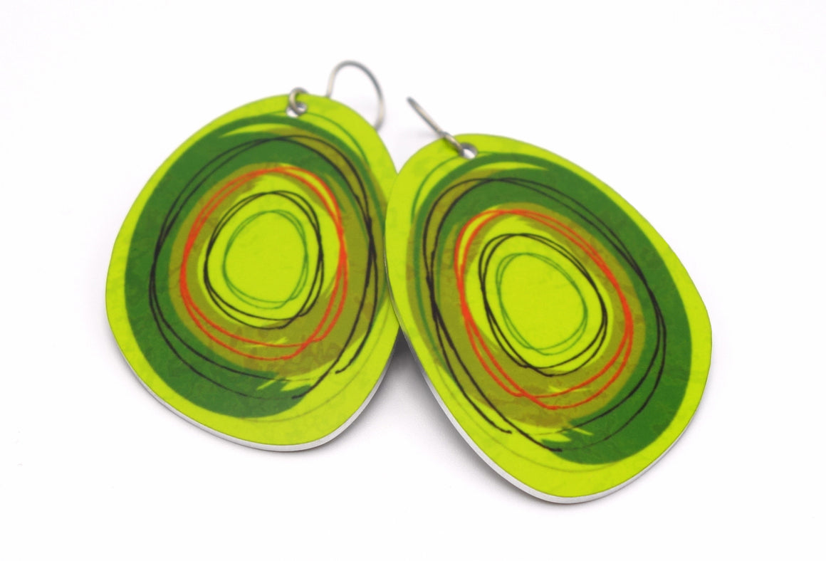 Green Maisie Earrings by ColorUpLife