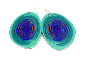 Peacock Maisie Earrings by ColorUpLife