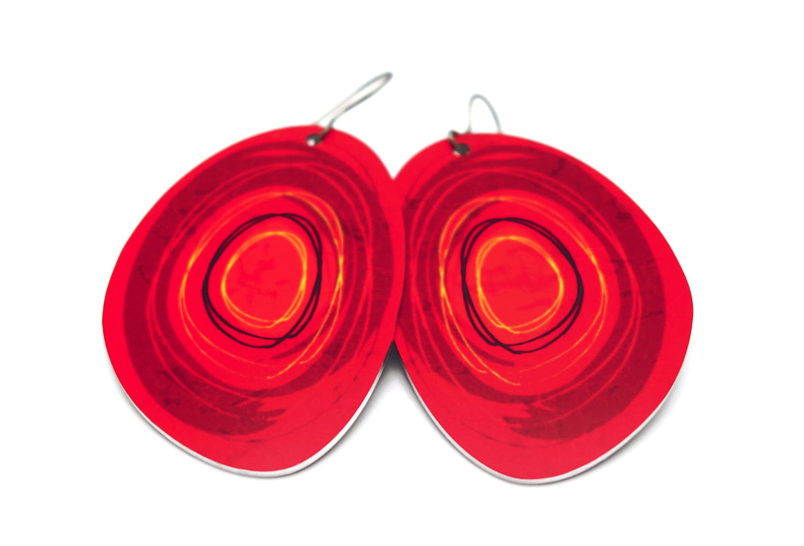 Red Maisie Earrings by ColorUpLife