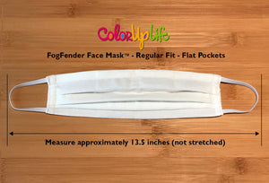 White FogFender Face Mask by ColorUpLife