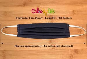 Large Fit FogFender Face Mask in Navy by ColorUpLife
