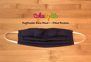 FogFender Face Mask - Navy - Regular and Large Fit