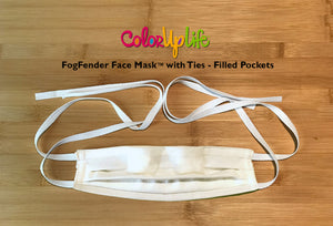 FogFender Face Mask with Ties by ColorUpLife