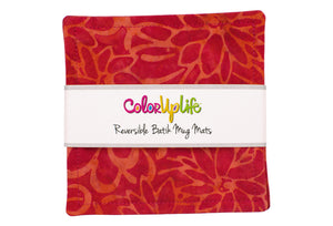 Batik Mug Mats - Fantasia Red