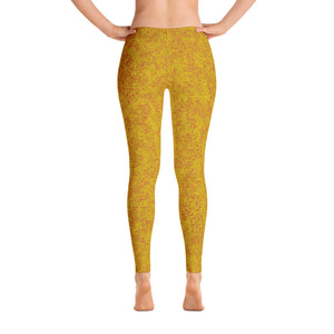 legging - yellow - back view - zen style - ColorUpLife