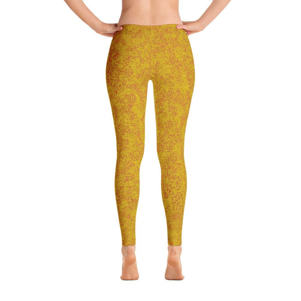 leggings - yellow - zen style - front view with swatch - ColorUpLife