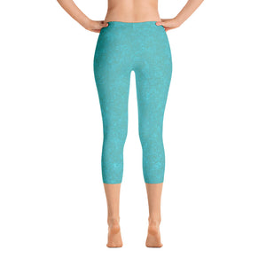 capri leggings - smokey teal - zen style - back view - ColorUpLife