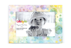 Pastel Bubbles Magnetic Picture Frame by ColorUpLife