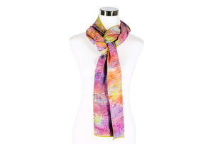 batik rayon scarf - multi color - ColorUpLife