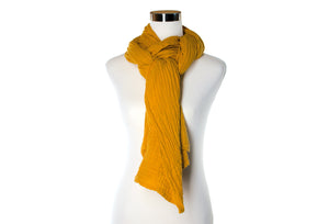 cotton double gauze scarf - mustard - ColorUpLife