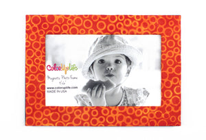 magnetic photo frame – orange and yellow – ColorUpLife