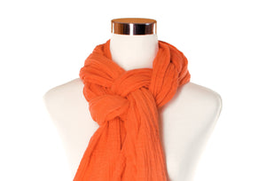 Orange Creamsicle Cotton Double Gauze Scarf by ColorUpLife