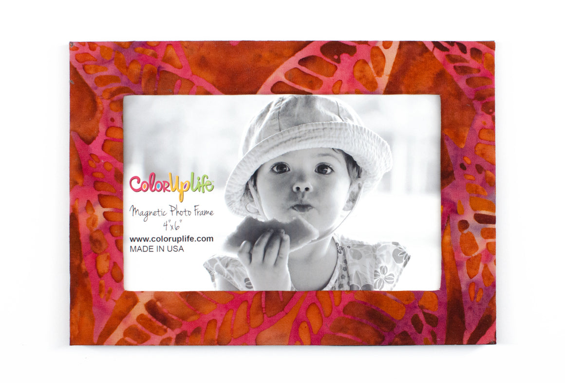 magnetic photo frame – leafy orange – ColorUpLife