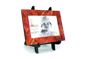 magnetic photo frame with display easel – leafy orange – ColorUpLife