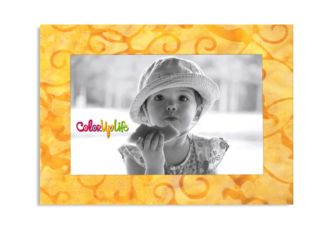 Magnetic Photo Frame - Pale Yellow Vine