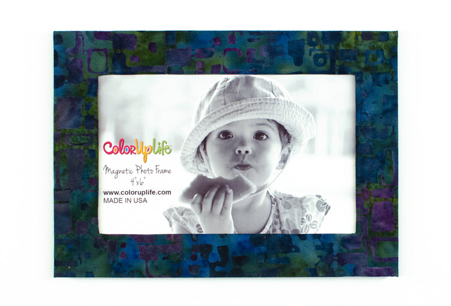magnetic photo frame – peacock blue – ColorUpLife