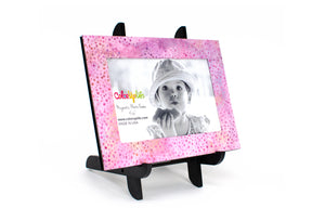 Pink Dot Magnetic Picture Frame Displayed on a Decorative Easel by ColorUpLife