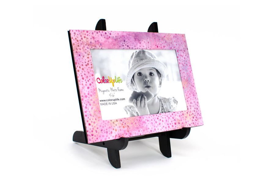 magnetic photo frame – pink dot – ColorUpLife