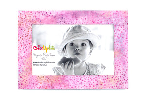 Pink Dot Magnetic Picture Frame by ColorUpLife