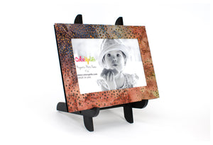 Neutral Dot Magnetic Picture Frame Displayed on a Decorative Easel by ColorUpLife