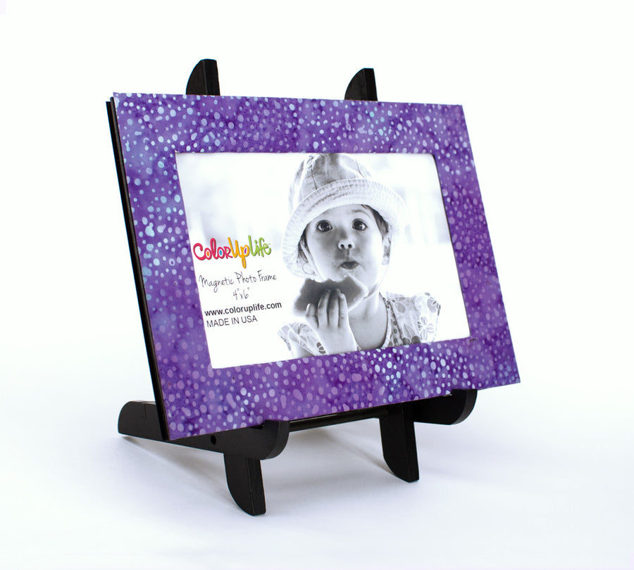 Magnetic Picture Frame - Purple Dot