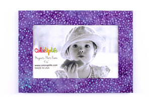 magnetic photo frame – purple dot – ColorUpLife