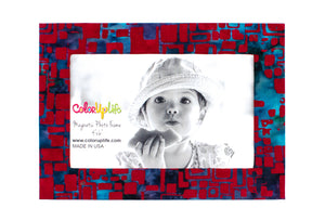 magnetic photo frame – red mosaic – ColorUpLife