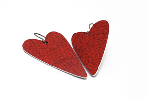 Red Heart Earrings by ColorUpLife