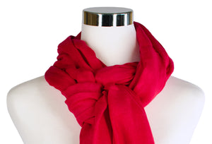 bamboo scarf up-close - red - ColorUpLife