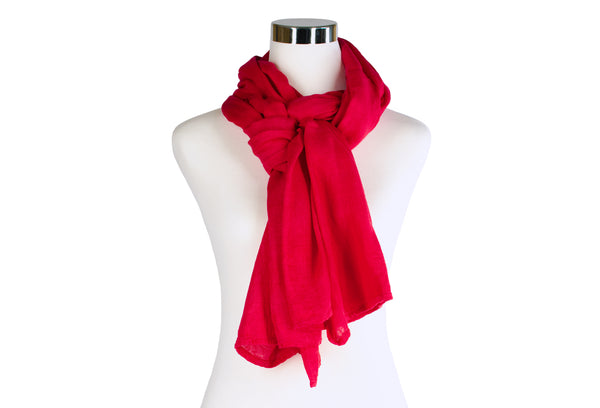 Hand-dyed Bamboo Scarf - Red