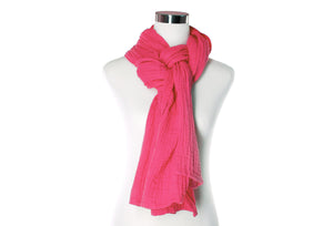 Rose Cotton Double Gauze Scarf by ColorUpLife
