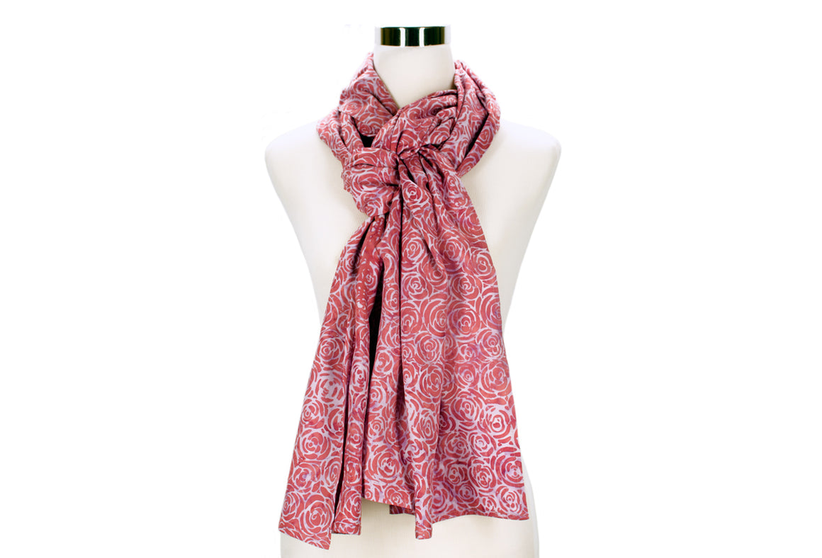 Rose Batik Rayon Scarf by ColorUpLife