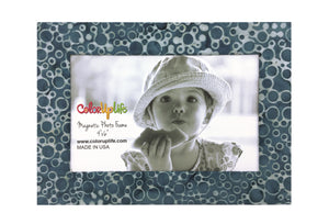 Slate Gray Magnetic Picture Frame by ColorUpLife