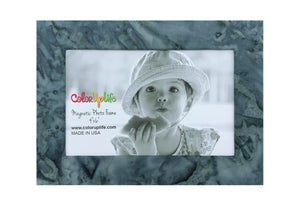 Slate Gray Watercolor Magnetic Picture Frame by ColorUpLife