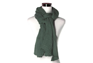 Stormy Sky Cotton Double Gauze Scarf by ColorUpLife