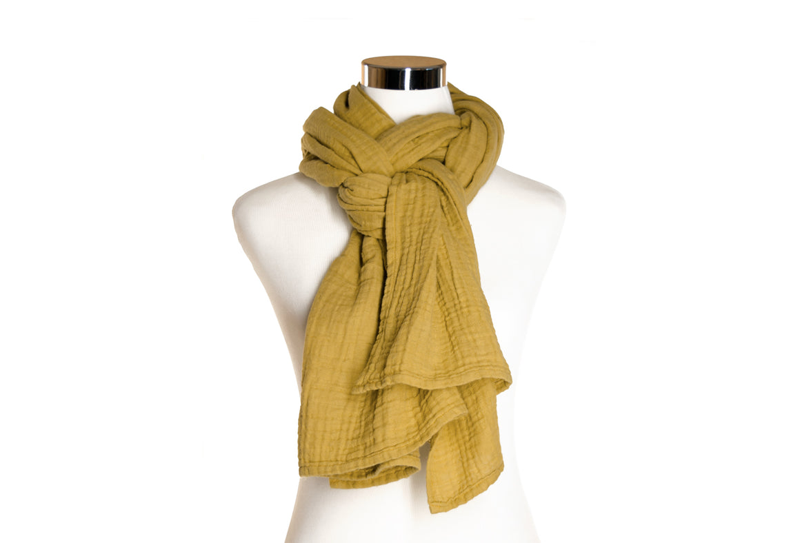 cotton double gauze scarf - buttermilk - ColorUpLife