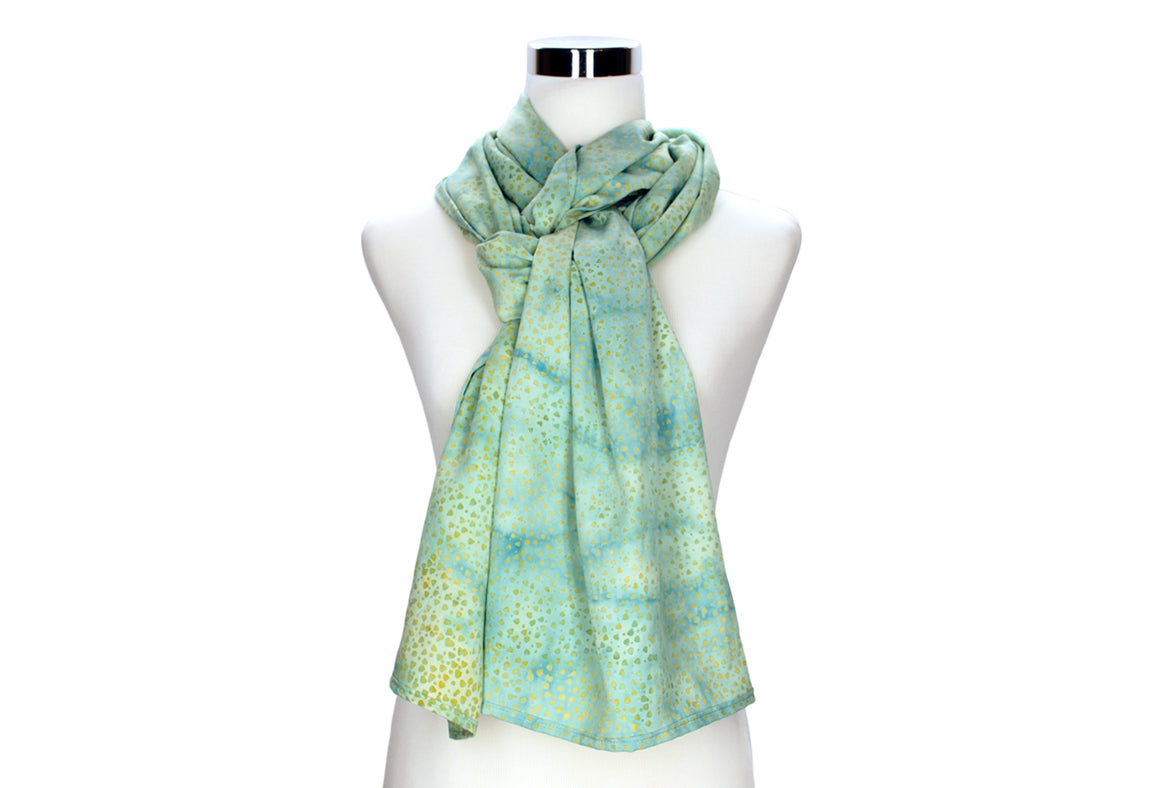 Sweet Mint Batik Rayon Scarf by ColorUpLife