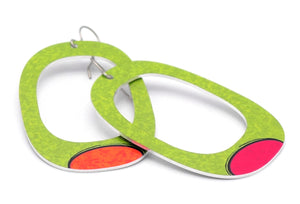 Green Sylvie Square Earrings by ColorUpLife