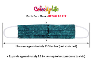 Regular Fit Batik Face Mask Measurements by ColorUpLife
