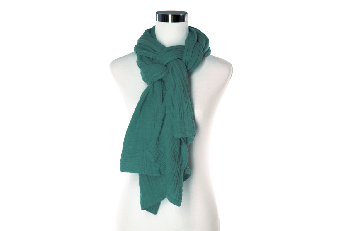 teal cotton scarf by ColorUpLife