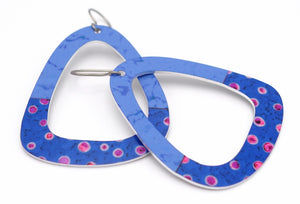 Blue Party Dot Triangle Earrings by ColorUpLife