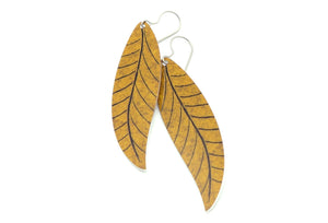 Earth Willow Leaf Earrings by ColorUpLife
