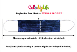 Extra Large Fit Filter Friendly Batik Face Mask Measurements by ColorUpLife
