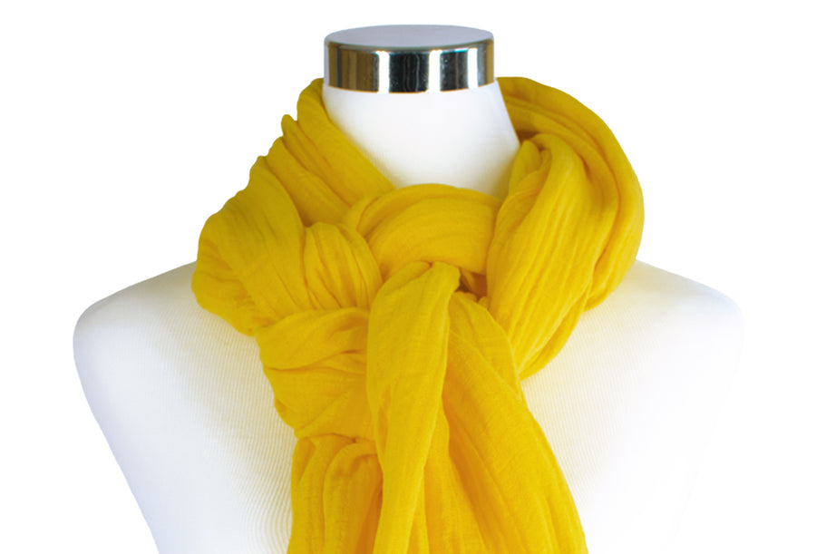 Hand-dyed Cotton Scarf - Marigold