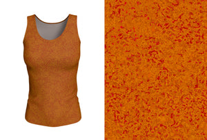 fitted tank - copper - zen style - front view with swatch - ColorUpLife
