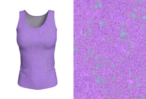 fitted tank - lavender - zen style - front view with swatch - ColorUpLife