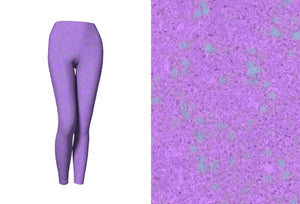 yoga leggings - lavender - zen style - front view with swatch - ColorUpLife