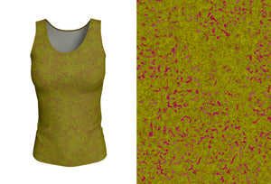 fitted tank - olive - zen style - front view with swatch - ColorUpLife